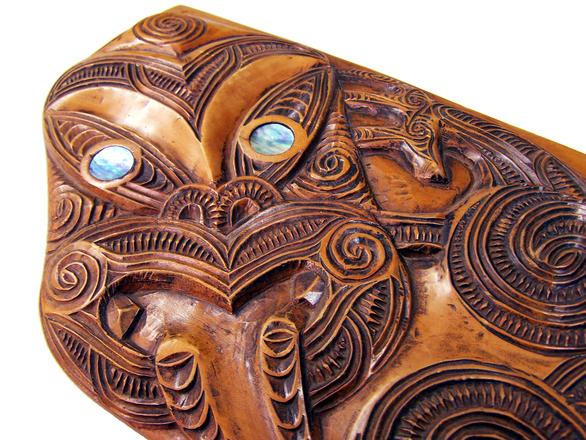 Maori Spirituality: Free Maori Carving 2 Stock Photo