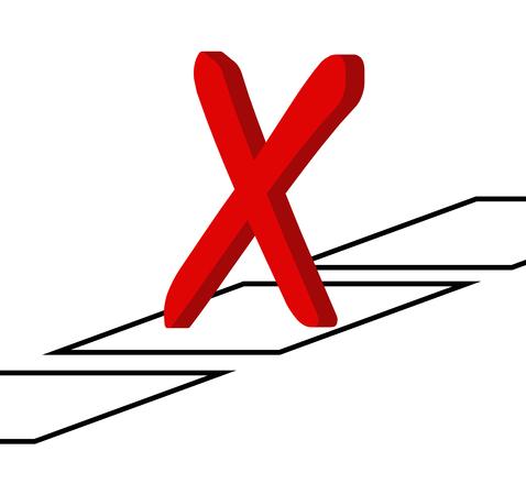 X in checkbox