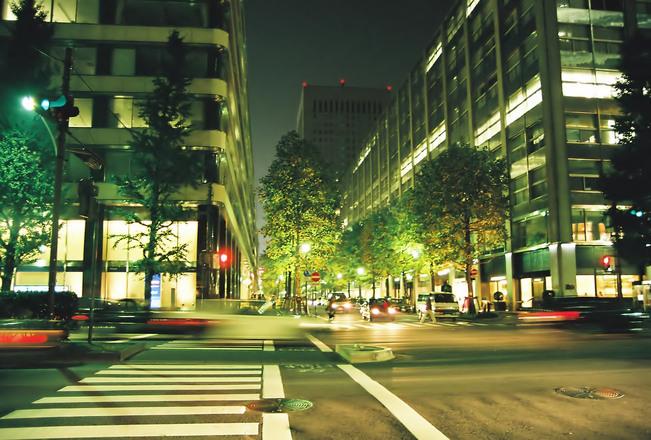 beside the road in tokyo