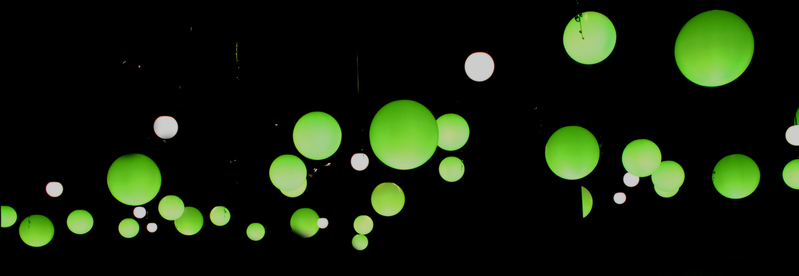 Green lamps