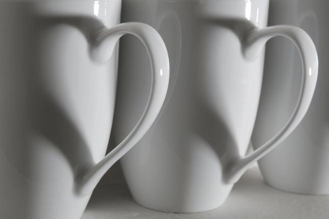 Coffee Cup Hearts