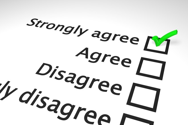 Agreement survey scale 1
