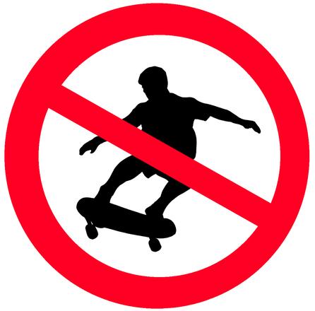 Sign NO SKATING