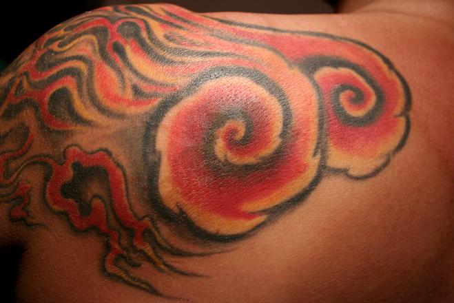 tattoo in flame