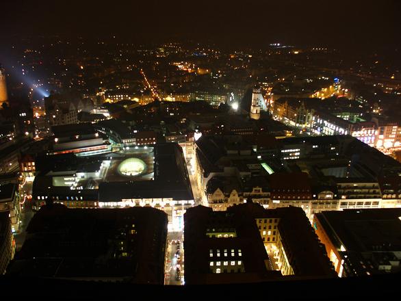 Leipzig at night