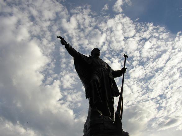monk's statue