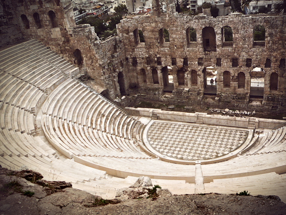 what is least likely to be found in the theater of ancient athens