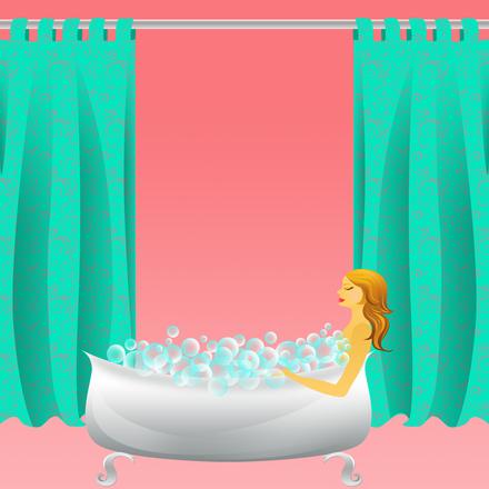 Bubble bath frame/stock photos
