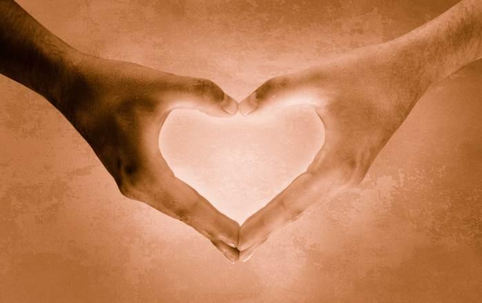 heartshaped hands