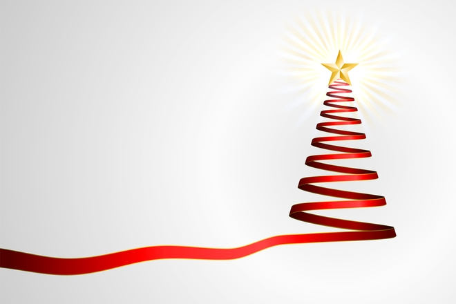 Free Simple Ribbon Christmas Tree Stock Photo