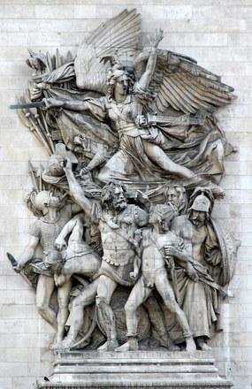 Art work on Arc de Triomphe 2