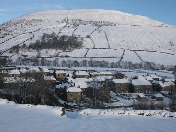 Village Snow Scene