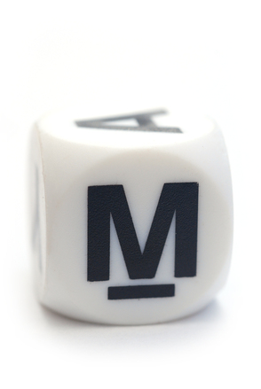 Letter M on the dice
