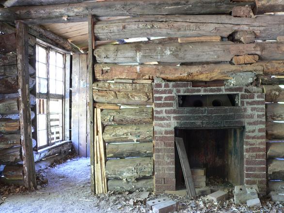 Log Cabin Fireplace Free Photo Files 1551689