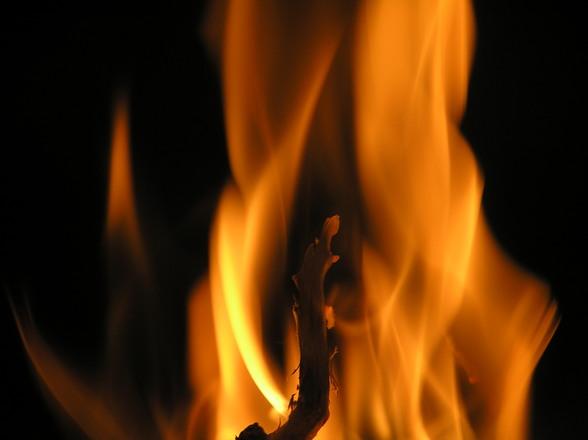 Boerderij te Harin in brand