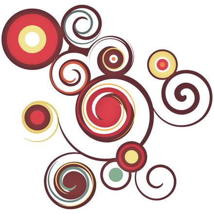 Abstract Retro Swirls