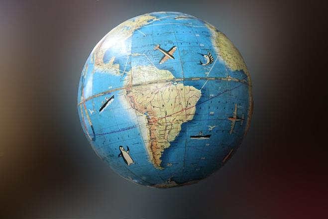 Old Earth Globe