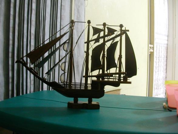 Ship in shadow