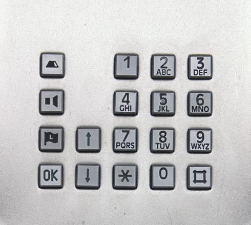 telephone key pad