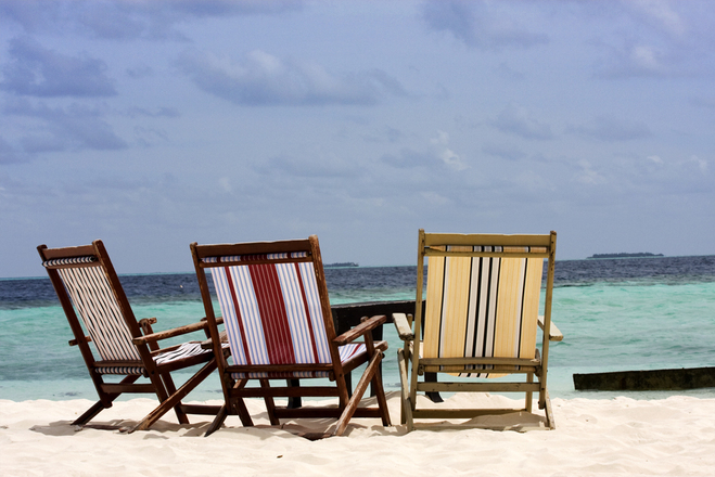 Lounge chairs on the beach 4