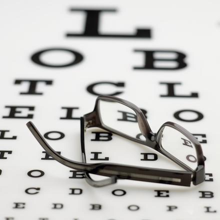 Frame on eye chart