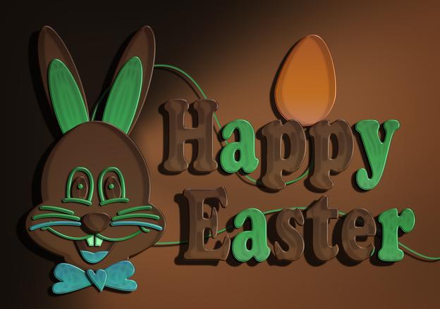 Chocolate Easter bunny green