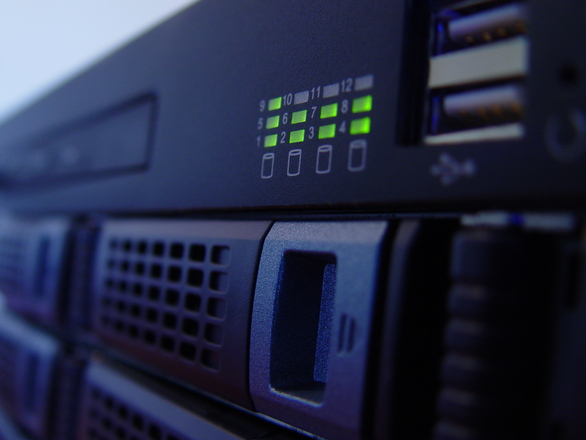 Front image of a rackmount ser