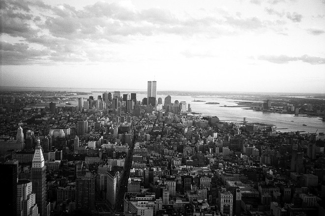 twin tower skyline new york free photo file 1467205