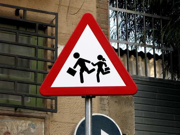 Danger School Traffic Signal
