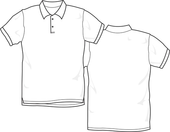 Free camisa polo branca stock photo for Full size t shirt template
