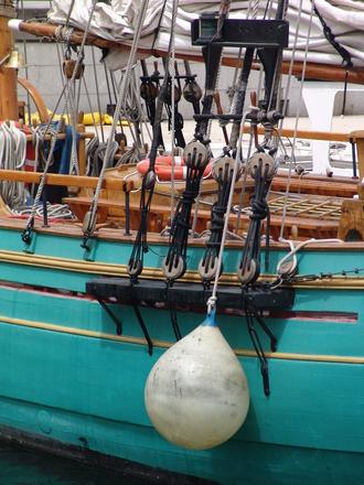 Sailing ship detail