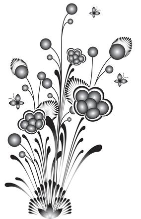 bubble flowers b/w