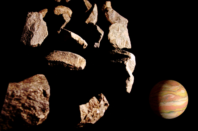 Meteors Near Rheya