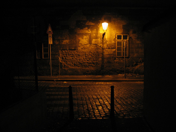 Free Street Of Prague At Night Stock Photo Freeimages Com