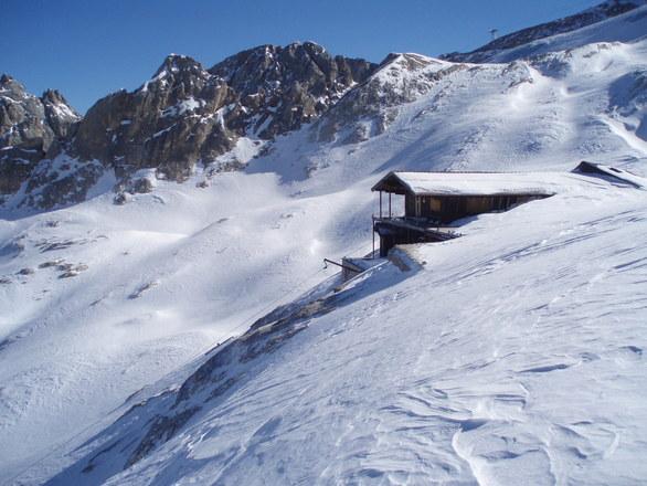 Mountain hut in snow 1