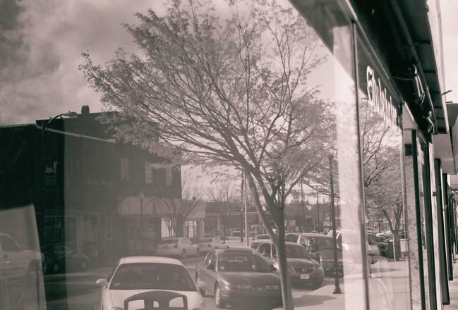 Street Reflection BW