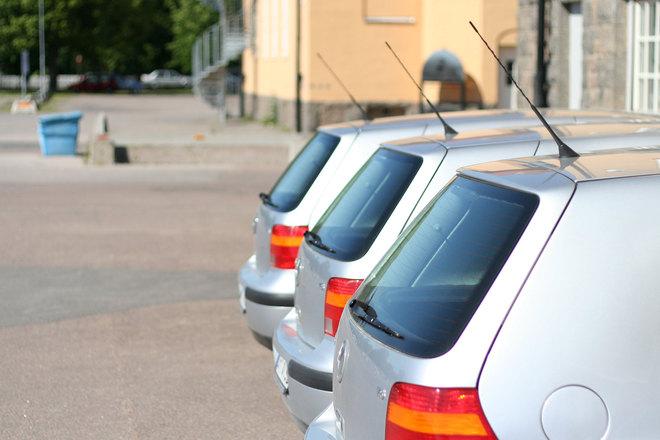 Cars in a row