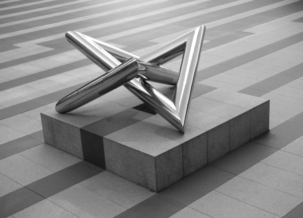 chrome monument
