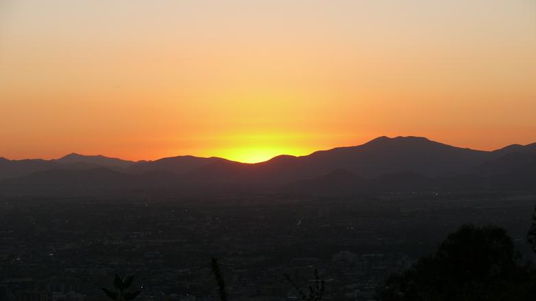 Sunset Santiago de Chile