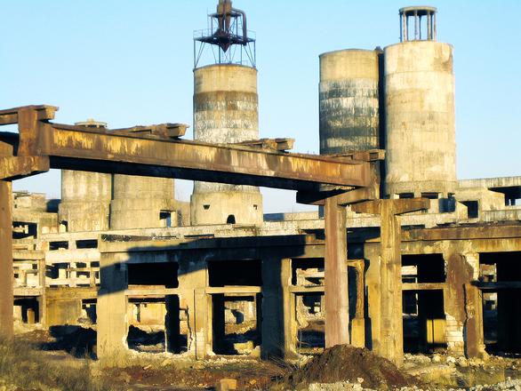 zona industrial abandonada