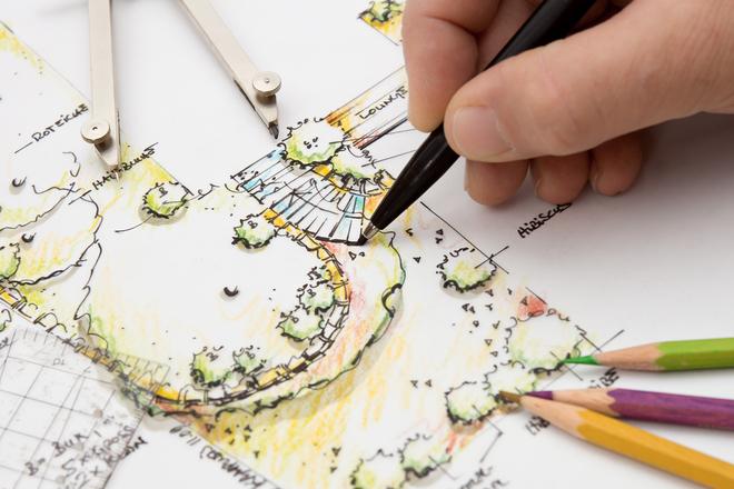 Free 정원 디자인 청사진 스케치 Stock Photo - FreeImages.com