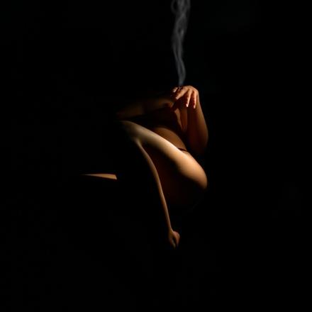 smoking nude