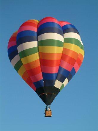 Balloon in blue sky