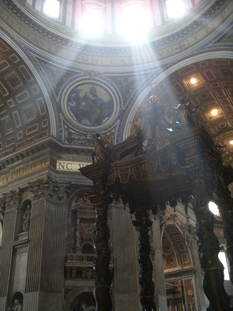 light into a church