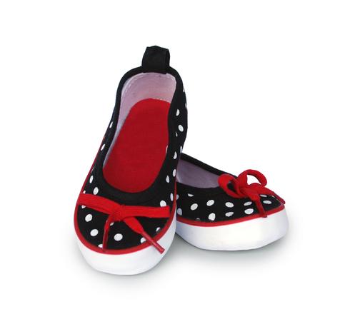 Canvas baby girl polka dot shoes