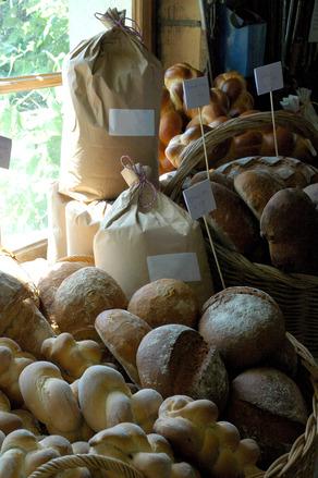 Baked bread at the farm