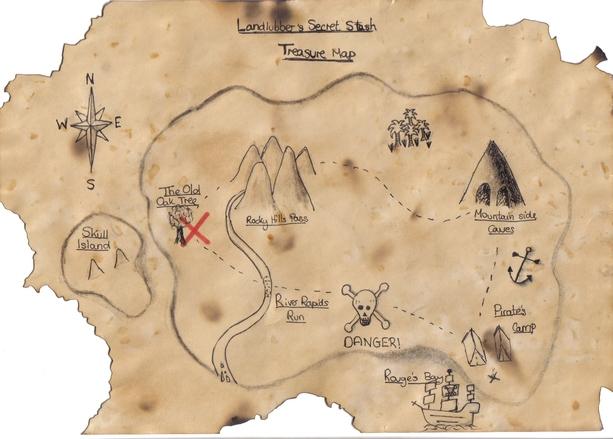 Как сделать пиратскую карту