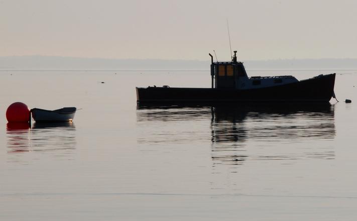 Lobster Boat in Haze