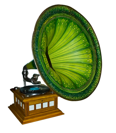 green gramophone