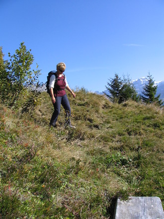 hiking in the swiss alps 4